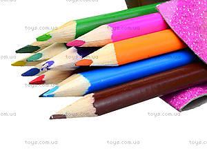 Карандаши цветные треугольные, BRDLR-12S-3P-12, купить