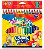 Карандаши цветные треугольные 24 цветов Colorino, 57462PTR, отзывы
