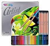 Карандаши цветные в металлической упаковке серия Artist 24 цвета Colorino, 83263PTR, детские игрушки