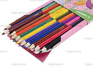 Карандаши цветные двухсторонние Pop Pixie, 12 штук, PP13-054K, купить