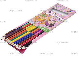 Карандаши цветные двухсторонние Pop Pixie, 12 штук, PP13-054K, фото