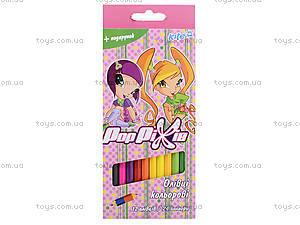 Карандаши цветные двухсторонние Pop Pixie, 12 штук, PP13-054K, цена