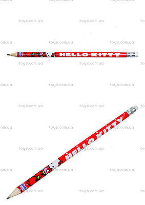 Карандаш графитовый с ластиком Hello Kitty, HK13-056K