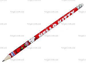 Карандаш графитовый с ластиком Hello Kitty, HK13-056K, фото