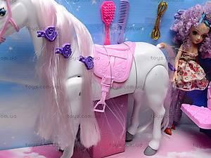 Карета детская с куклой и лошадью, 60386, магазин игрушек