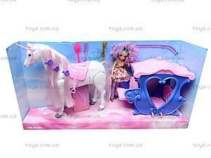 Карета детская с куклой и лошадью, 60386, toys.com.ua