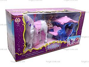 Карета детская с куклой и лошадью, 60386