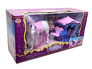 Карета детская с куклой и лошадью, 60386, тойс