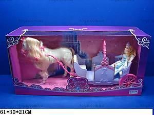 Карета, с куклой и лошадкой, 28929