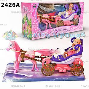 Карета, с куклой и лошадью, 2426А