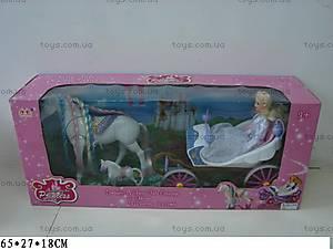 Карета с куклой, лошадкой и жеребенком, 23386