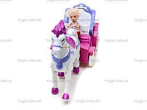 Игрушечная карета с маленькими куклами, 399-1B, фото