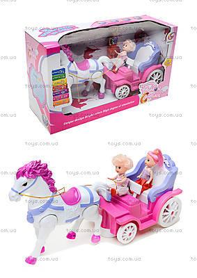 Игрушечная карета с маленькими куклами, 399-1B