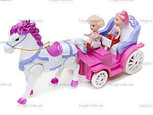 Игрушечная карета с маленькими куклами, 399-1B, цена