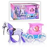 Карета с лошадкой, голубая, 686-756, детские игрушки