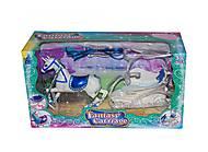 Карета с лошадкой (синее седло), SM3005