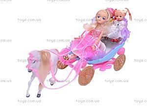 Карета с лошадью и 3 куклами, 28901А, фото
