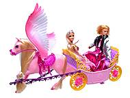 Карета с лошадью и куклами, 66404, фото