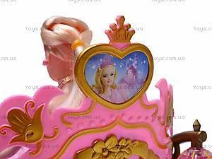Карета, с лошадью и куклой, 209A, детские игрушки