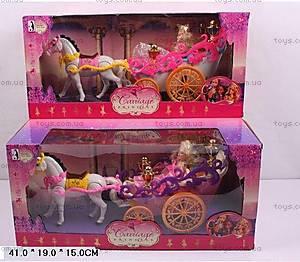 Карета с лошадью и куклой Барби, 9988
