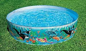 Каркасный бассейн «Счастливые зверьки», 58474, купить