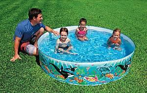 Каркасный бассейн «Счастливые зверьки», 58474