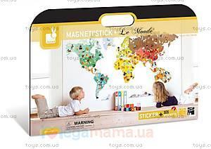 Карта мира с животными, 101 магнит, J02850, фото