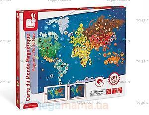 Карта мира с животными магнитная, 201 магнит, J02889
