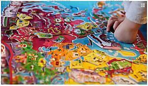 Карта мира с пазлами, 92 магнита, J05504, купить