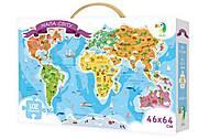 Карта мира в форме пазла, , фото