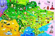 Карта Украины с пазлами, 73420, детский