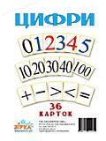 Карточки макси «Цифры», 71358, фото
