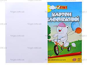 Картон белый TIKI, 10 листов, 50904-TK, фото