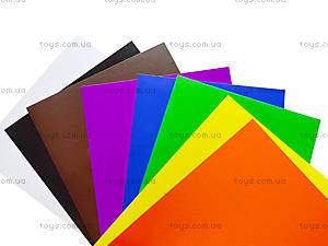 Цветной картон А4, 10 листов, КРИМ ПАК, фото