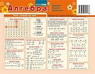Картонка-подсказка «Алгебра», 66438, купить