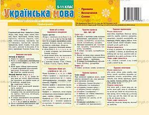 Картонка-подсказка «Украинский Язык.Правило», 66443