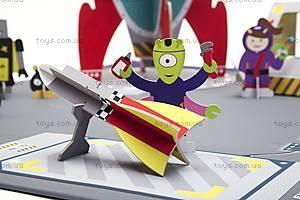 Картонный игровой набор Krooom «Галактическая станция», K-305, игрушки