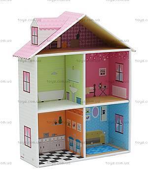 Картонный игровой набор Krooom «Кукольный дом Мелроуз», K-216