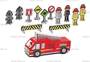 Картонный игровой набор Krooom «Пожарная часть Дилан», K-210, отзывы