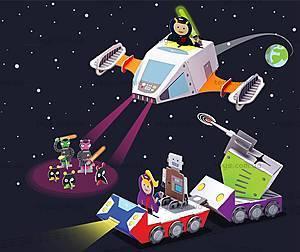 Картонный игровой набор Krooom «Полиция Галактики-738», K-306, отзывы