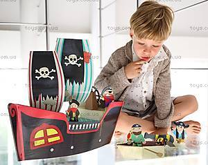 Картонный игровой набор Krooom «Пиратский корабль Купер», K-307, купить
