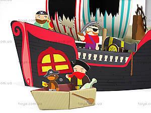 Картонный игровой набор Krooom «Пиратский корабль Купер», K-307, отзывы