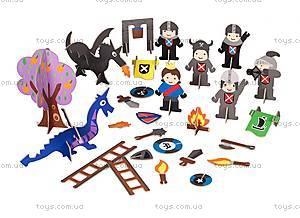Картонный игровой набор Krooom «Рыцарский замок короля Артура», K-220, купить