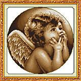 Картина «Ангелочек», вышивка крестиком, R265(3), отзывы