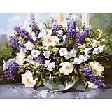 Картина «Большой букет в стеклянной вазе 2», КН1050, фото