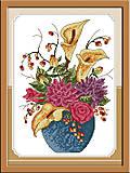 Картина «Цветы в вазе» для вышивки крестиком, H231, фото