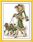 Картина «Дама с собачками» для вышивки, R435, фото