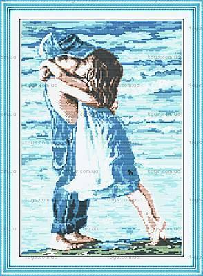 Картина «Детский поцелуй» для вышивки, R005
