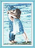 Картина «Детский поцелуй» для вышивки, R005, фото