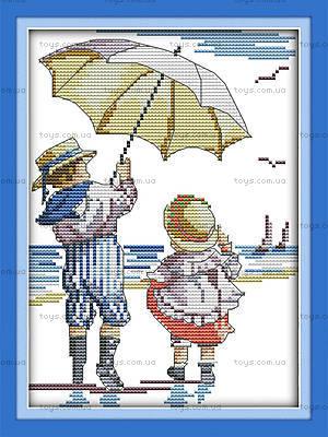 Картина «Дети на море» в наборе с нитками, K208